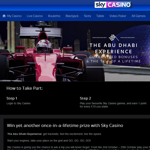 Win The Abu Dhabi Race Experience at Sky Casino