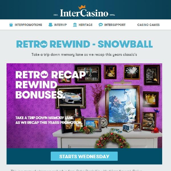 Enjoy Daily Bonuses at InterCasino in Retro Rewind Promotion