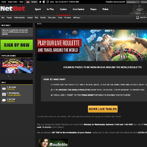 Win a VIP Trip at NetBet Casino