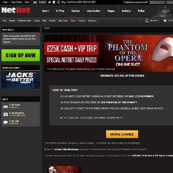 Win A Share of £25K and a VIP London Trip at NetBet Casino