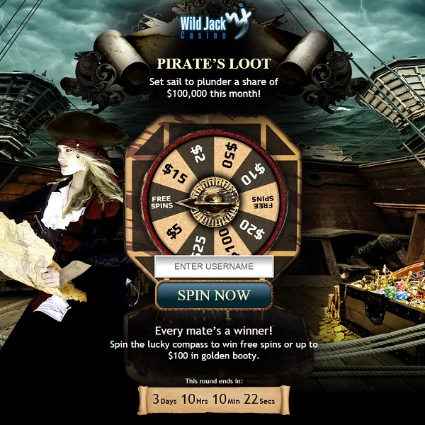 Wild Jack Casino Runs $100K Pirate Loot Promotion