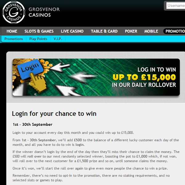 Win Up to £15K at Grosvenor Casino This Month