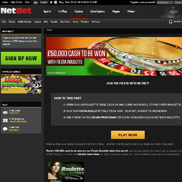 Win a Share of £50K Playing NetBet Fiesta Roulette