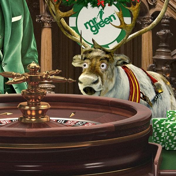 Win £1K Cash in Mr Green's Rudolph's £30K Roulette Race