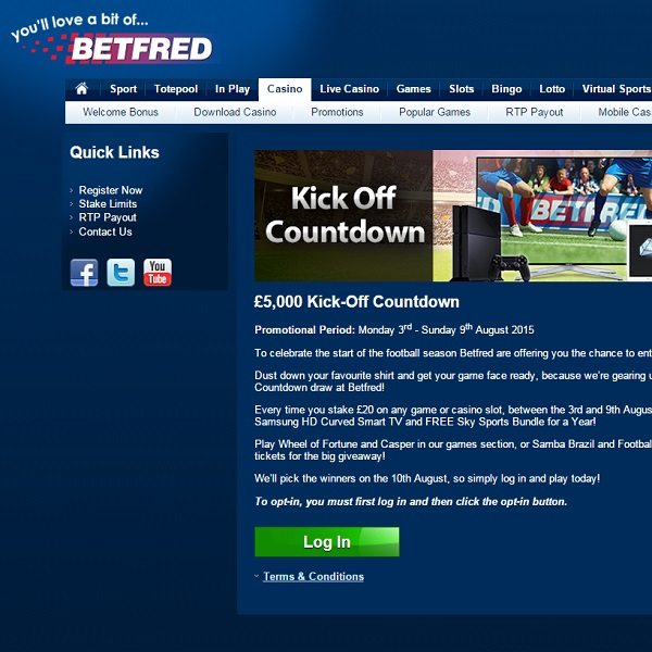 Win £5,000 Worth of Prizes at Betfred Casino This Weekend