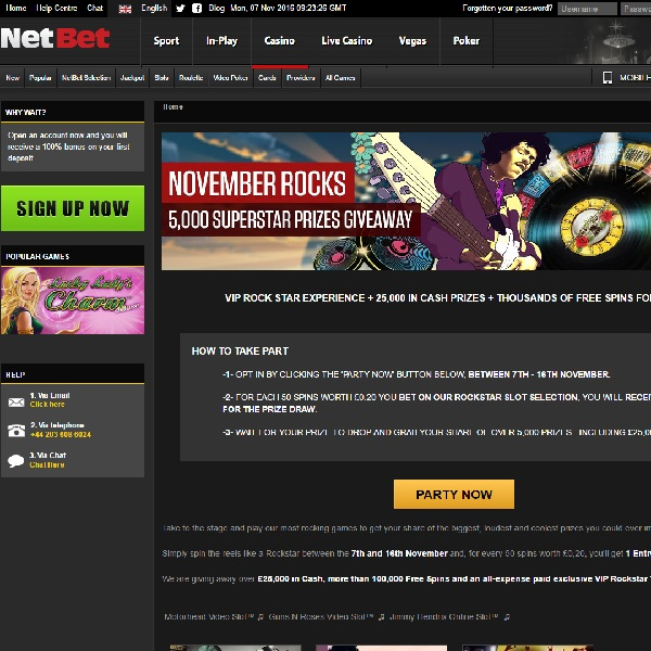 Win a VIP Rock Star Trip to London at NetBet Casino