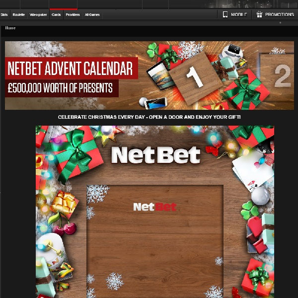 NetBet Casino's Advent Calendar Offers Over £500K of Prizes