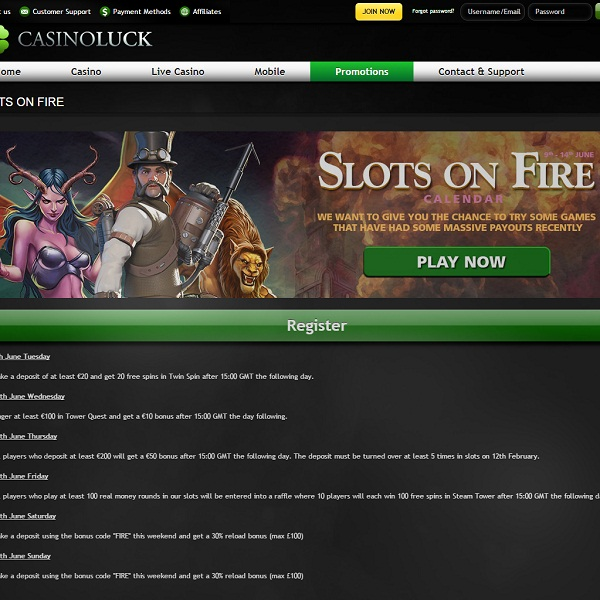 Casino Luck Offers Week Packed With Promotions