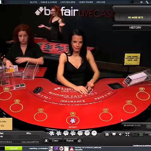 Receive a £250 Bonus Playing Live Blackjack and Betfair