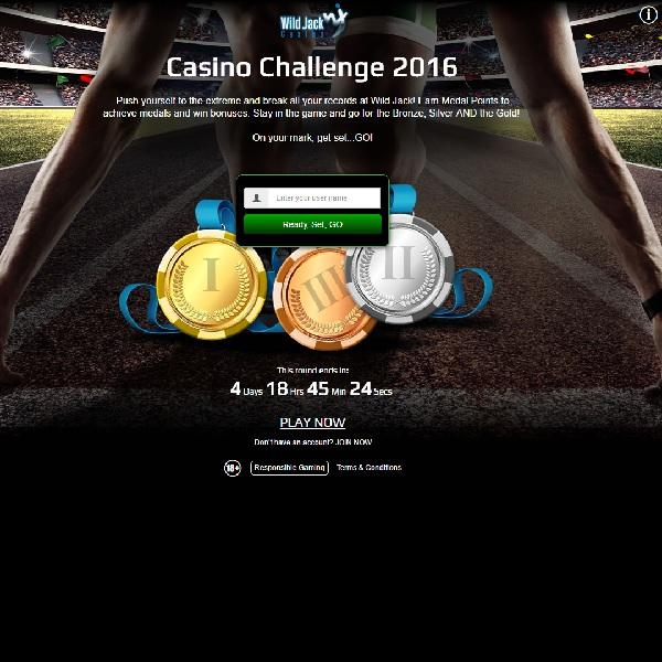 Go for a Gold Medal Bonus at Wild Jack Casino