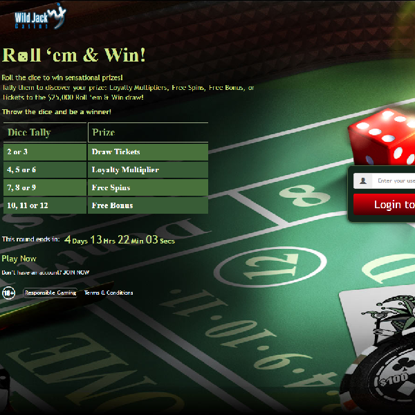 Win Free Spins, Multipliers and Prize Draw Entries at Wild Jack