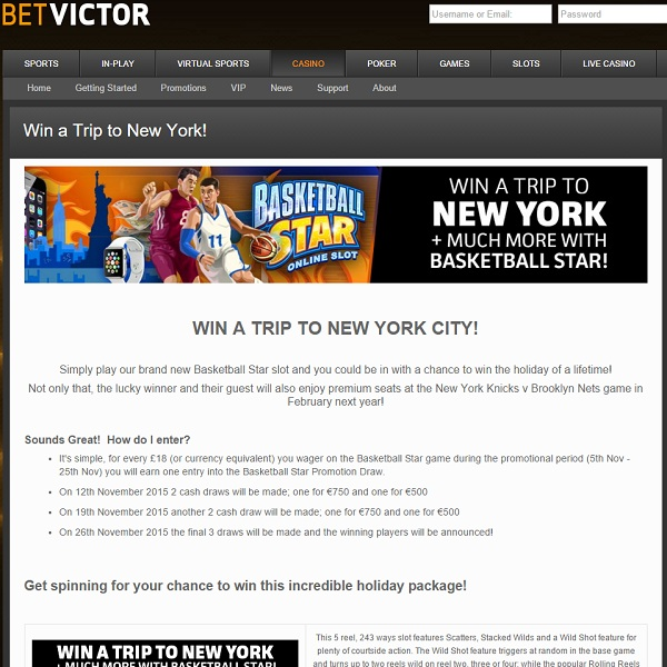 Win a Trip to New York at BetVictor Casino