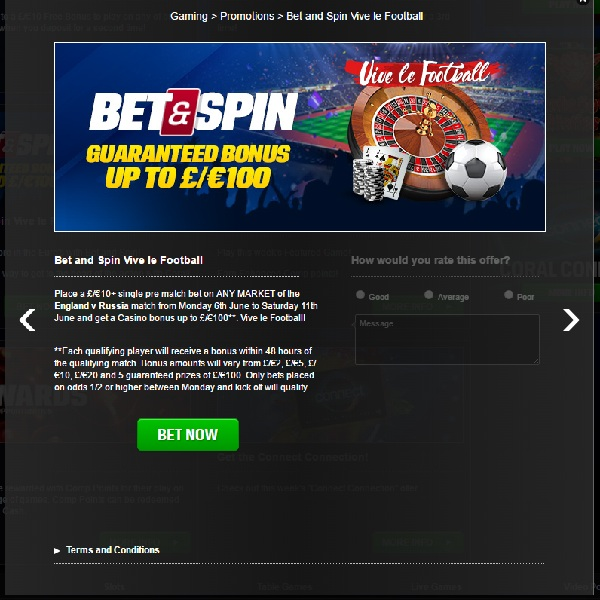 Bet On England vs Russia and Receive a Guaranteed Bonus at Coral