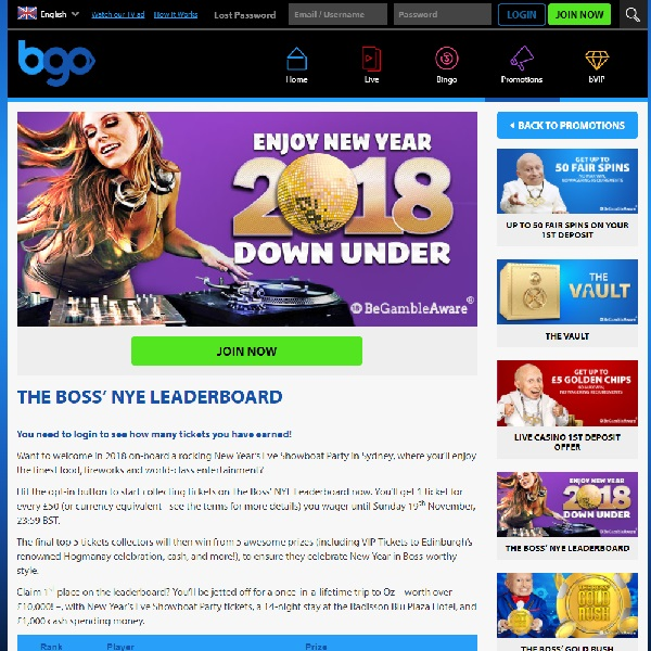 Win a New Year's Trip to Australia at BGO Casino