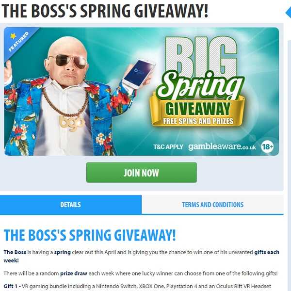 Win Weekly Prizes in BGO Spring Giveaway