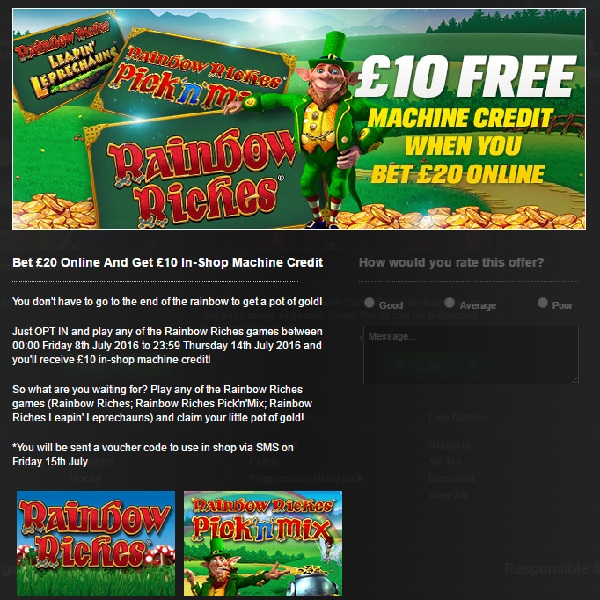 Play at Coral Casino to Get Free £10 In-Store Credit