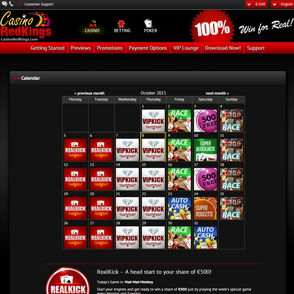 Enjoy Comp Points, Cashback and More and Casino Red Kings
