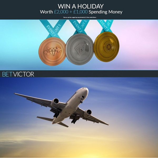 Win a £2,000 Holiday at BetVictor Casino