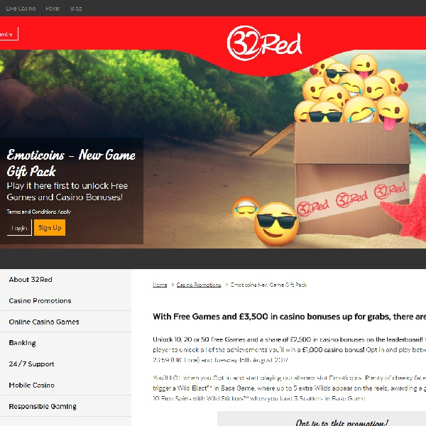 Win Free Spins and �3,500 Bonus Cash at 32Red Casino
