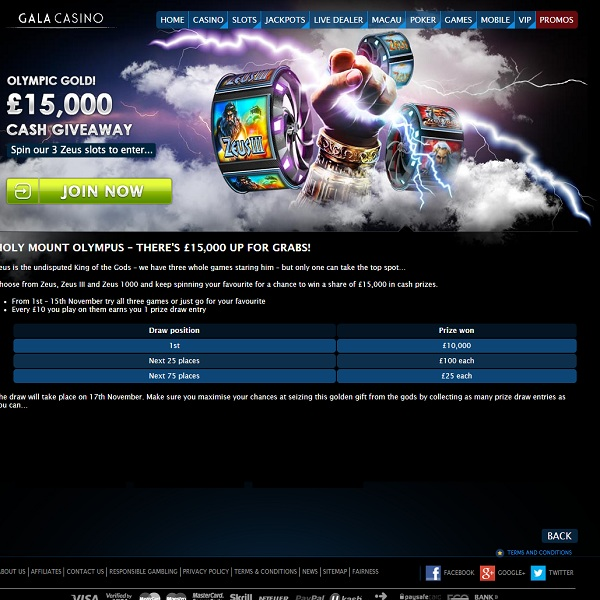 Win a Share of £15K in Battle of the Gods Challenge at Gala Casino