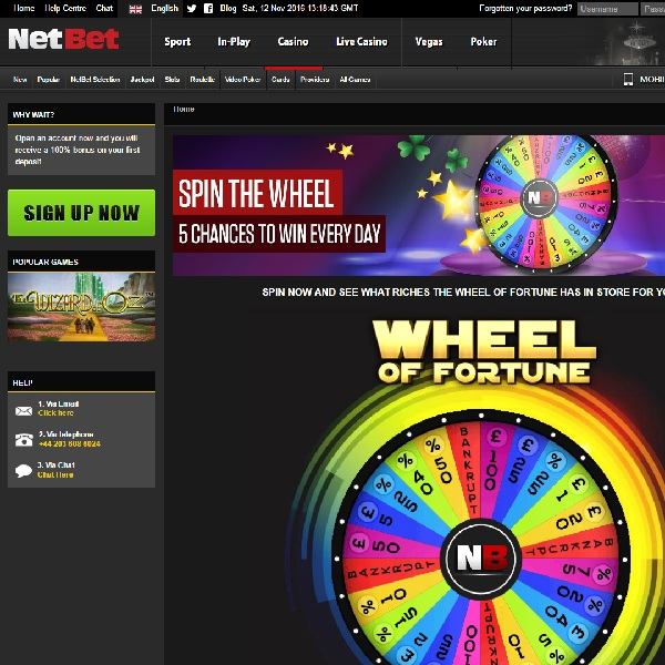 Spin NetBet's Wheel of Fortune for Huge Bonuses