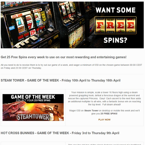 This Week Bet Victor is Offering Members 25 Free Spins