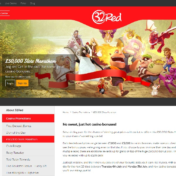 Win Big in 32Red Casino's £50,000 Slots Marathon
