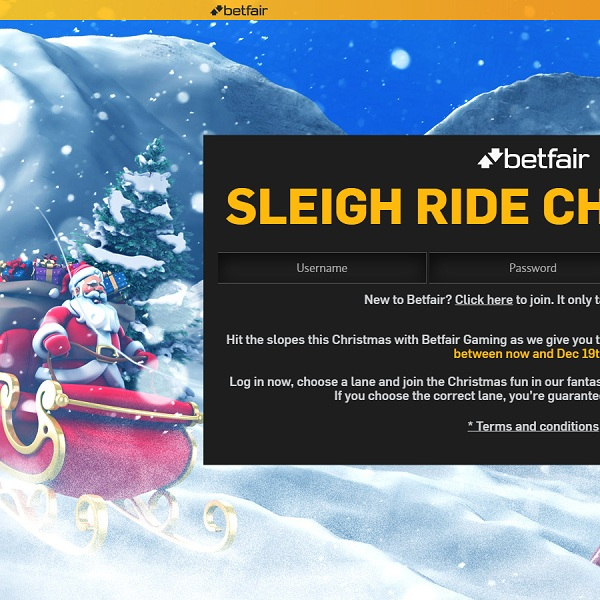 Win Daily Prizes in Betfair's Sleigh Ride Challenge