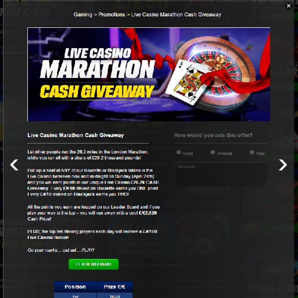 марафон лайв казино