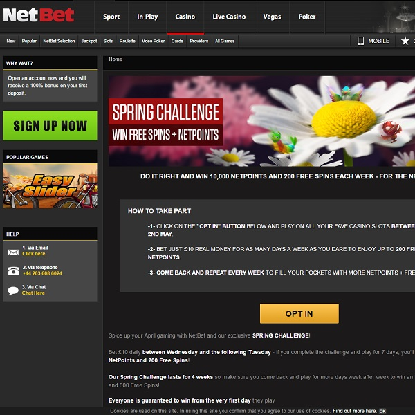 Earn 200 Free Spins and Extra Loyalty Points at NetBet Casino