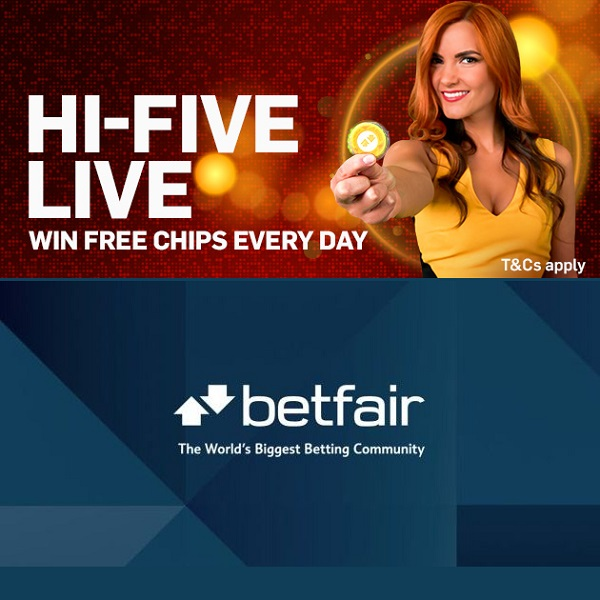 Win 5 Free Golden Chips at Betfair Casino