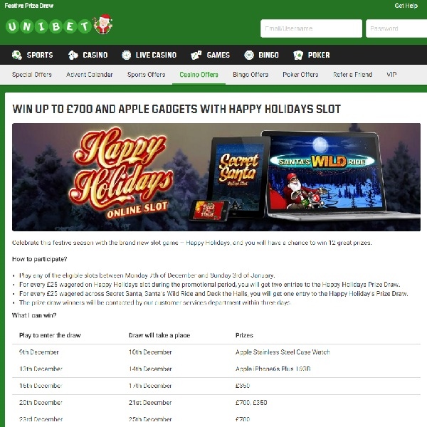 Win £700 Cash and Apple Gadgets at Unibet
