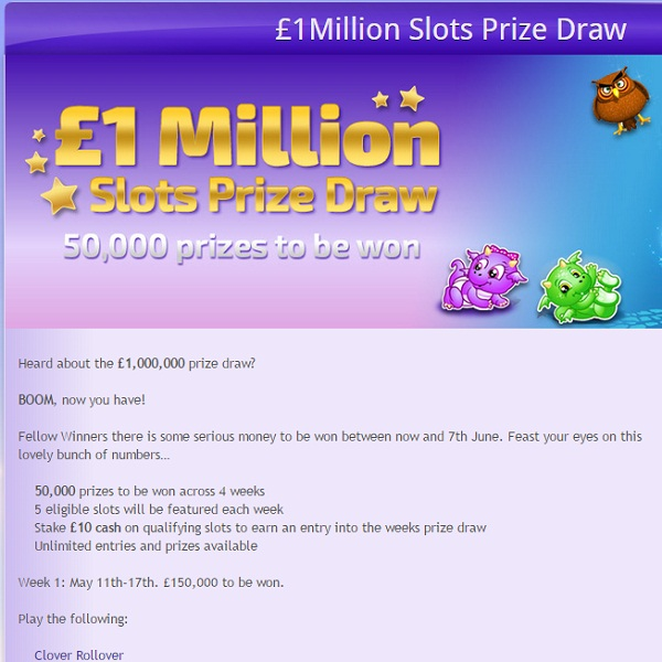 Win a Share of £1 Million at Winner Bingo This Month