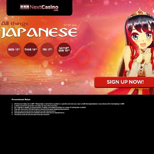 Enjoy Japanese Themed Bonuses at Next Casino
