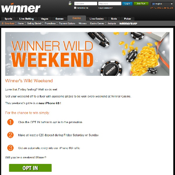 Win Fantastic Prizes Every Weekend at Winner Casino