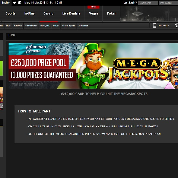 NetBet Casino Mega Jackpots Promotion Offers £250K Prize Pool