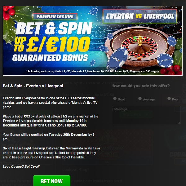 Bet on The Merseyside Derby for a Coral Casino Bonus