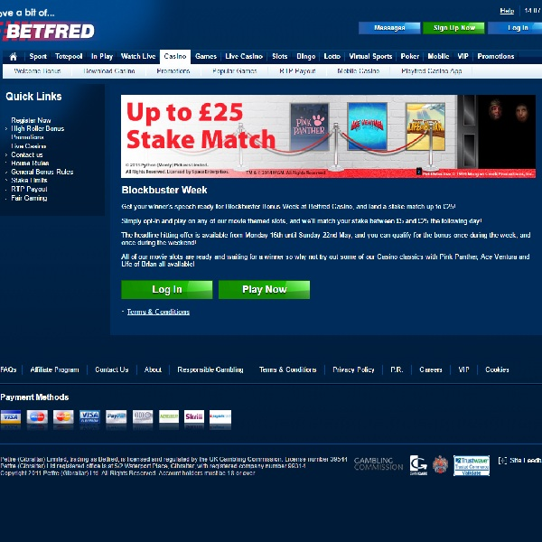 Betfred Offers £25 Bet Match in Blockbuster Week Promotion