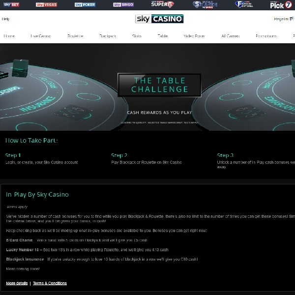 Win Cash Bonuses Playing Roulette and Blackjack at Sky Casino