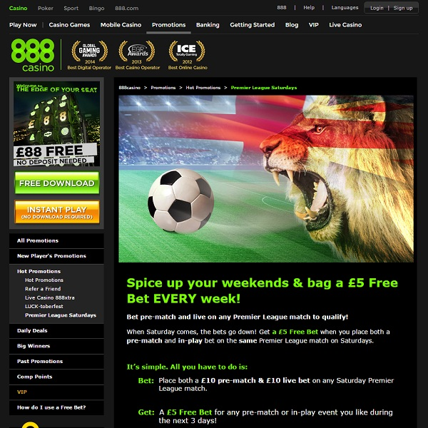 Enjoy Free £5 Bets at 888 Casino Every Week
