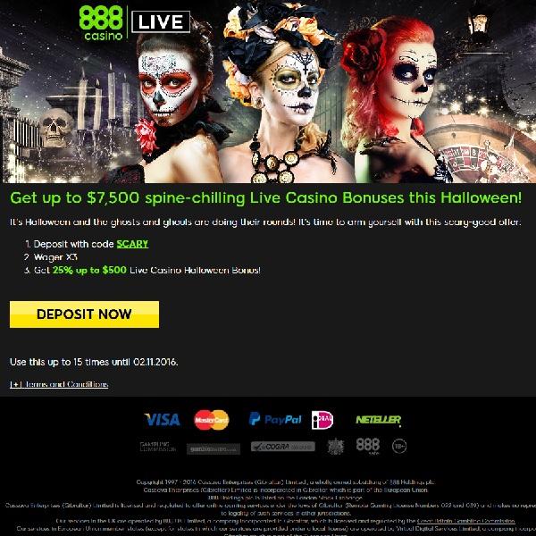 Enjoy $7,500 of Live Dealer Bonuses at 888 Casino