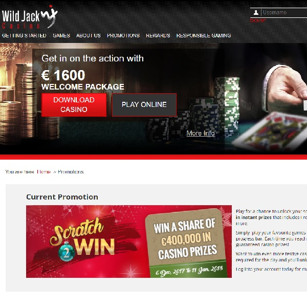Win a Share of Casino Prizes Worth €400K at Wild Jack Casino