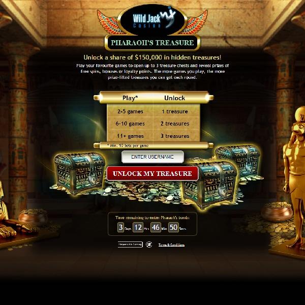 Wild Jack Casino Offers $150K of Bonuses This Weekend