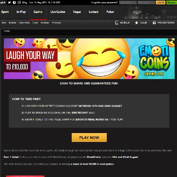 Win a Share of £10K Cash at NetBet Casino