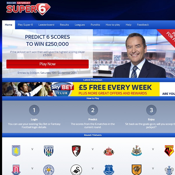 Sky Vegas Offers £250K Super 6 Jackpot Every Weekend