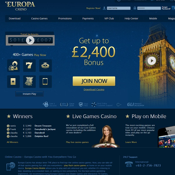 Win a Share of $8,000 at Europa Casino this Week