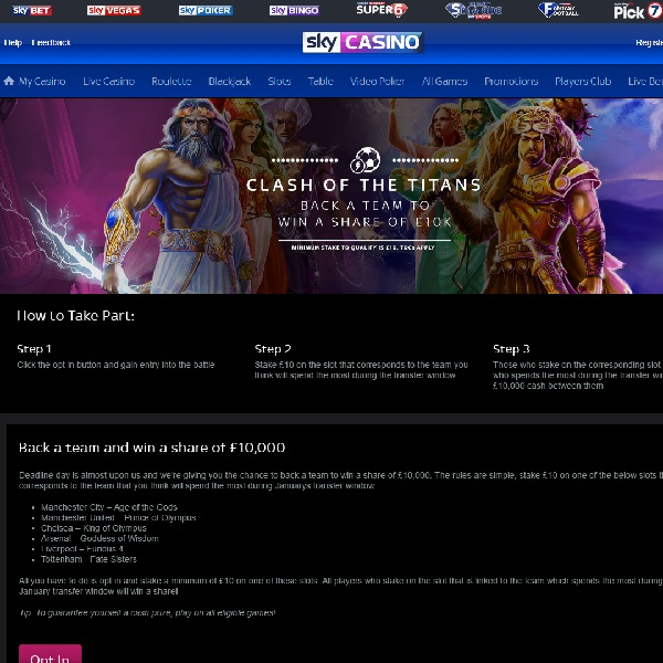 Use Slots and Football Knowledge to Win £10K at Sky Casino