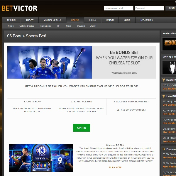 Enjoy a Free £5 Sports Bet at BetVictor Casino