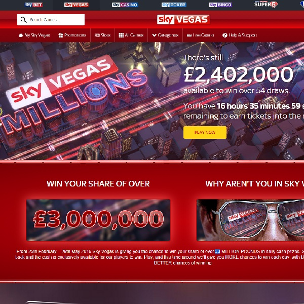Win Thousands in Sky Vegas Millions Promotion
