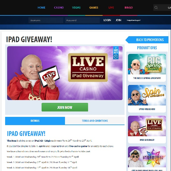 Win a iPad Air 128GB at BGO Casino